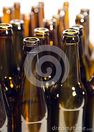 Free Empty Glass Beer Bottles Stock Photography - 51205462