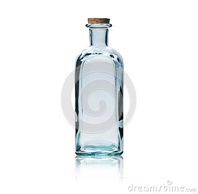 Free Empty Glass Bottle With Cork Stopper. Royalty Free Stock Photography - 33370267