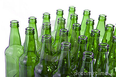 Empty glass bottles l