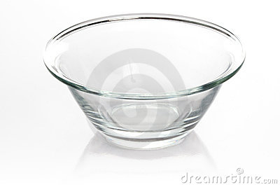 Empty glass bowl