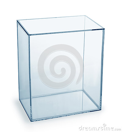 Free Empty Glass Box Royalty Free Stock Image - 65687056