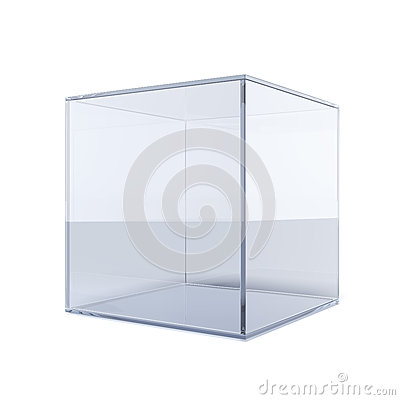 Free Empty Glass Cube Stock Photos - 33753303