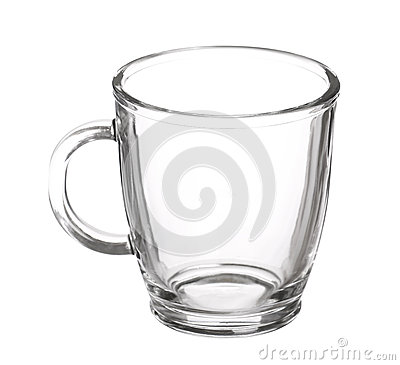 Free Empty Glass Cup Of Tea With Handle Isolated Stock Image - 51732291