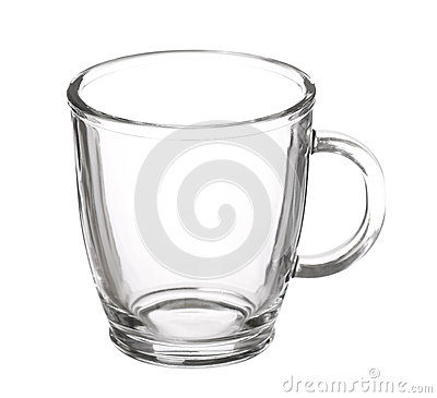 Free Empty Glass Cup Of Tea With Handle Isolated On White Background Stock Photo - 51732270
