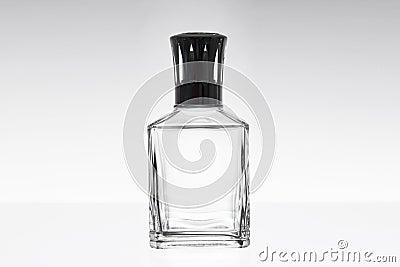 Empty glass fragrance bottle