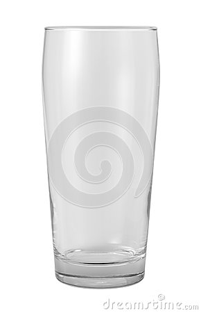 Empty Glass Isolated with clipping path