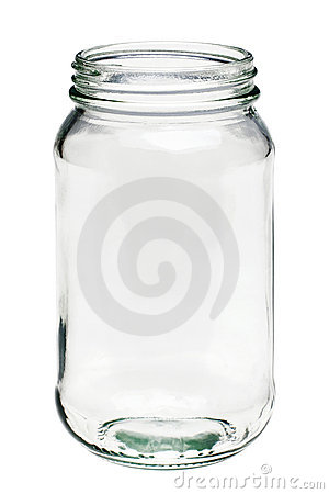 Free Empty Glass Jar Isolated On A White Background Royalty Free Stock Images - 15253419