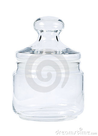 Empty glass jar for spice