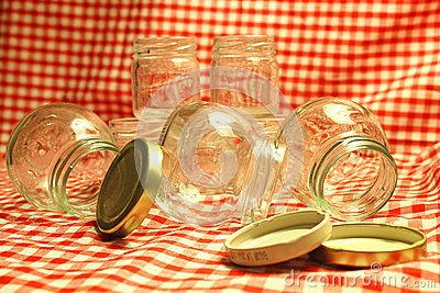 Empty Glass Jars