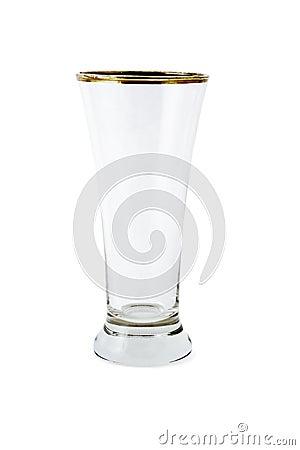 Empty glass mug