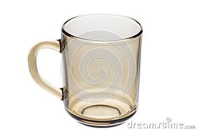 Empty glass tea cup