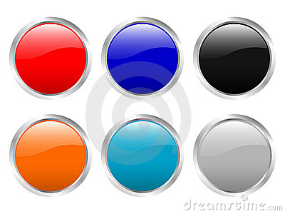 Empty glossy buttons