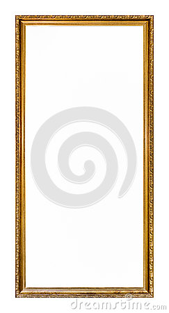 Free Empty Gold Colored Picture Frame Stock Images - 31609854