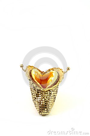 Empty golden purse