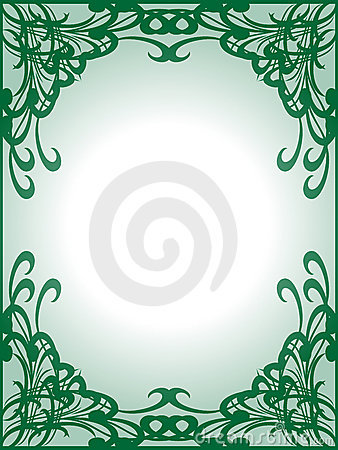 Empty green frame background