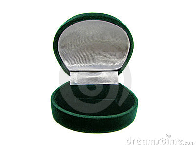 Empty green ring box