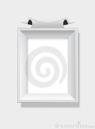 Empty grey picture frame.