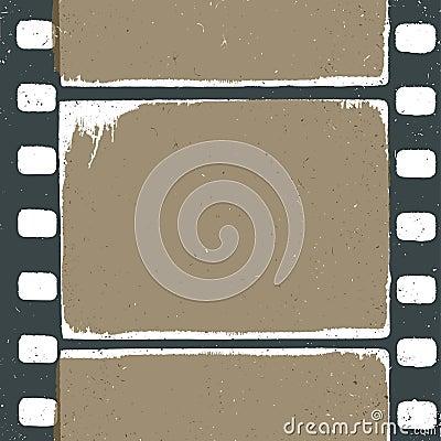 Empty grunge film strip design