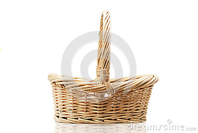 Empty halm basket