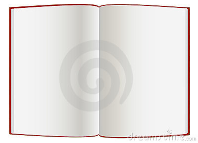 Empty  hardcover book