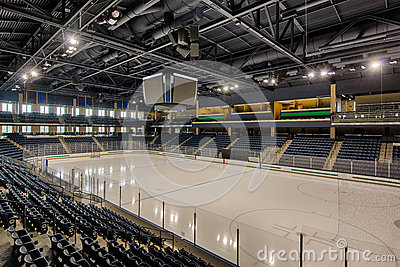 Empty hockey arena