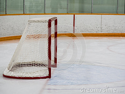 Empty hockey net