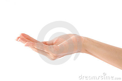 Empty Human Hand (Beauty Woman hand)