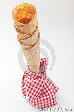 Empty ice-cream cones