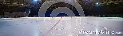 Empty ice rink, hockey arena Stock Photo