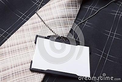 Empty ID badge