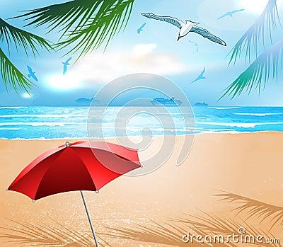 Empty idyllic beach