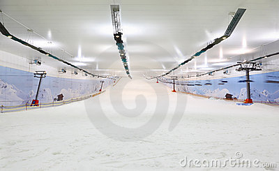 Empty indoor lighting ski