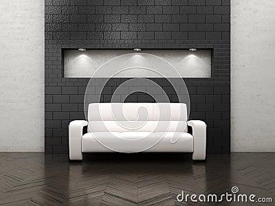 Empty interior sofa