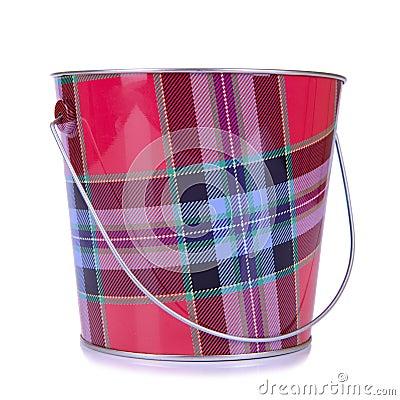 Empty iron bucket