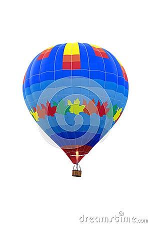 Empty isolated hot air balloon