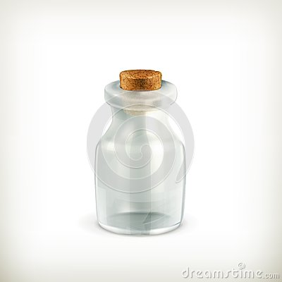Empty jar, icon