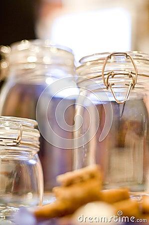 Free Empty Jars Royalty Free Stock Photo - 4023185