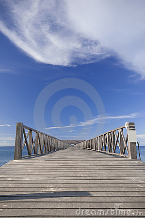 Empty jetty