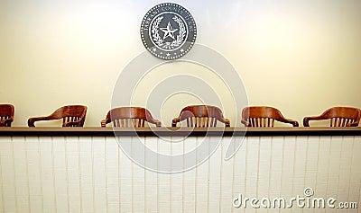 Empty jury area