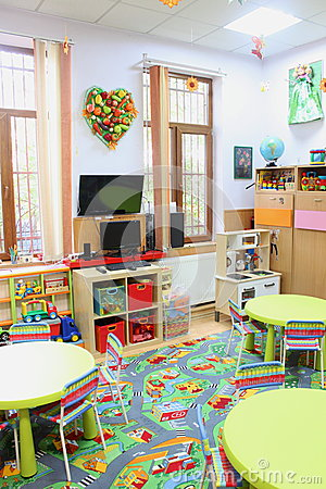 Empty kindergarten classroom Editorial Stock Photo