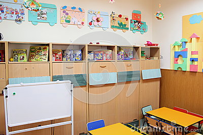 Empty kindergarten classroom Editorial Photo
