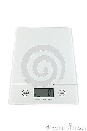 Empty kitchen scale