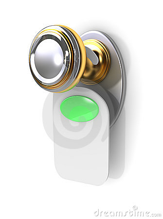 Free Empty Label On A Door Handle Stock Images - 1794264