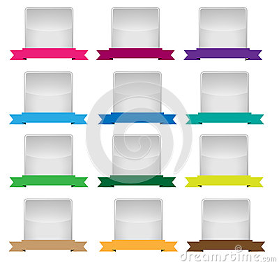 Empty label set with cored ribbons