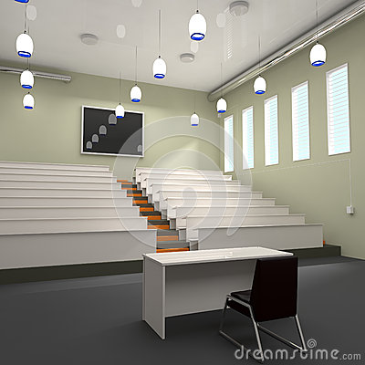 Empty Lecture Hall in University