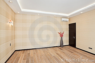 Empty living room interior