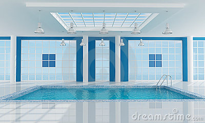 Empty luxury resort swimming pool