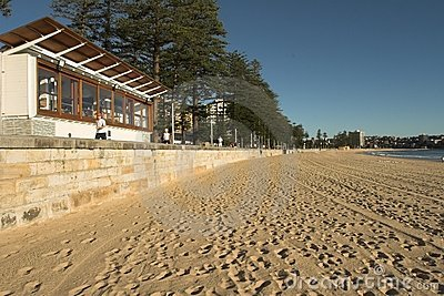 Empty Manly Beach, Sydney