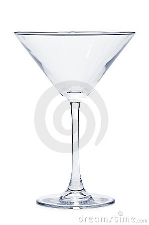 Free Empty Martini Glass Stock Photography - 12370042