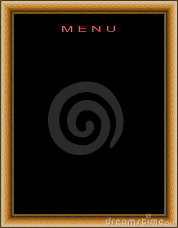 Empty menu board cutout